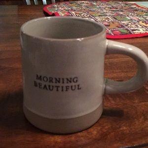 Morning Beautiful stoneware mug